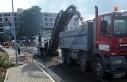 Girne'de asfaltlama çalışmaları