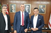 Amcaoğlu, MHP Milletveikili Ahmet Erbaş ile Necati Şaşmaz'ı kabul etti