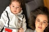 Fahriye Evcen oğlu Karan'ı paylaştı, sosyal medyada yer yerinden oynadı