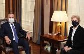 """Çavuşoğlu, Lute ile görüştü : """"Kıbrıs'ta gerçekçi çözüm iki devletin egemen eşitliğine dayalı iş birliğidir"""""""