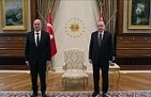 Erdoğan, Yunanistan Dışişleri Bakanı Dendias'ı kabul etti