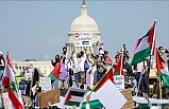 Washington'da binlerce kişi Filistin'e destek gösterisi düzenledi