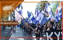 ELAM ve Rum öğrenciler sınır kapılarında eylem yaptı