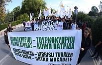 Güney Kıbrıs'ta KKTC protestosu