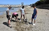 Kervansaray Halk Plajında sosyal mesafe önlemleri alınıyor