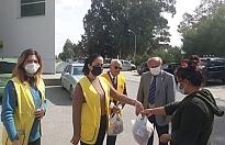 164 kişiye gıda paketi dağıtımı