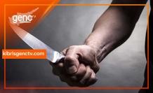 Girne'de bıçaklı kavga
