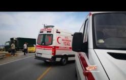 Girne -Geçitköy yolunda trafik kazası