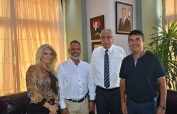 Girne Belediye Başkanı Güngördü KTEB'i kabul...