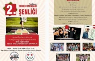 """SÜTLÜCE'DE CUMARTESİ GÜNÜ """"2. SOKAK OYUNLARI..."""
