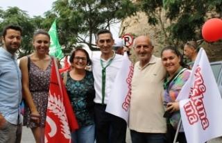 """CTP GİRNE'DE """"KALEMİZİ GERİ ALACAĞIZ"""" SLOGANIYLA..."""