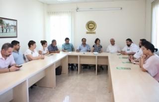 CTP'NİN LTB MECLİS ÜYESİ ADAYLARI SENDİKA ZİYARETLERİNİ...