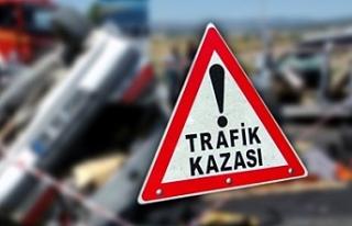 GAZİMAĞUSA-LEFKOŞA ANAYOLUNDA, YOLDAN ÇIKAN ARAÇ...