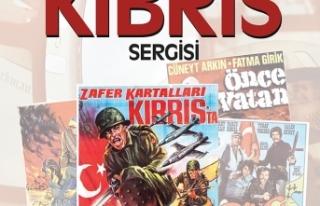 KIBRIS'I KONU ALAN FİLM AFİŞLERİNDEN OLUŞAN...