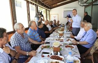 SERTOĞLU, ARASTA ESNAFINI ZİYARET ETTİ, MUHTARLARLA...