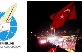 DIŞ BASIN BİRLİĞİ'NDEN 15 TEMMUZ DEMOKRASİ...