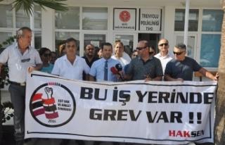 HAK-SEN TREN YOLU POLİKLİNİĞİ'NDE UYARI GREVİ...
