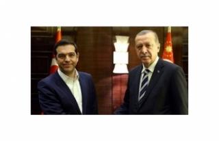 TC CUMHURBAŞKANI ERDOĞAN, CIPRAS İLE GÖRÜŞTÜ