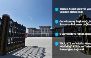 TÜRKİYE'DE 7 CUMHURBAŞKANLIĞI KARARNAMESİ YAYIMLANDI