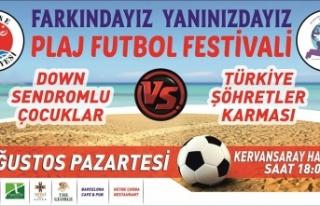 GİRNE'DE PLAJ FUTBOL FESTİVALİ DÜZENLENİYOR