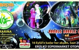 """KHYD YARARINA DÜZENLENEN """"HUBBLE BUBBLE SHOW""""..."""