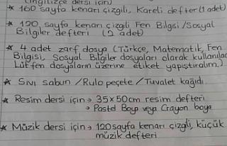 DEVLET OKULUNDA 'İHTİYAÇ LİSTESİ TEPKİ...