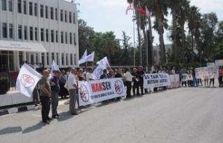 HAK-SEN VE VERGİ-SEN BAŞBAKANLIK ÖNÜNDE PROTESTO...