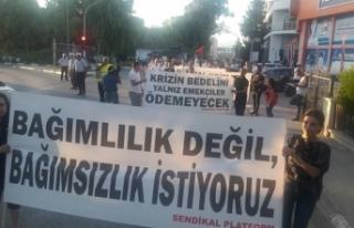 "SENDİKAL PLATFORM'UN ""TOPLUMSAL VAROLUŞ YÜRÜYÜŞÜ""..."