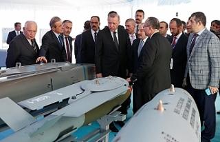 """Erdoğan: """"Milli hava füze savunma sistemi için..."""
