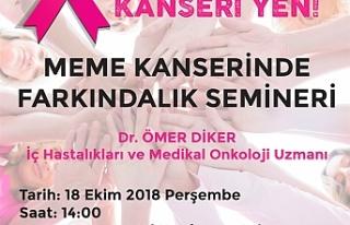 KTAMS YARIN MEME KANSERİNDE FARKINDALIK SEMİNERİ...