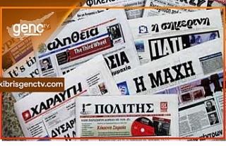 Anastasiades'in basın toplantısı Rum Gazetelerine...