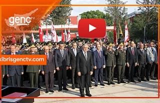 Atatürk anıtında tören düzenlendi