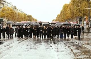Dünya liderleri Birinci Dünya Savaşı anma töreninde...