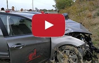 Girne-Geçitköy yolunda trafik kazası