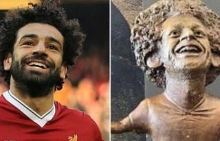 Muhammed Salah'ın Mısır'daki heykeli...
