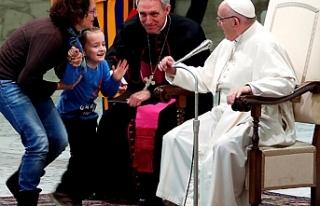 Papa Francis'in Vatikan'da yaptığı ayine...
