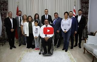 Uluçay, Tüm Engelliler Federasyonunu kabul etti