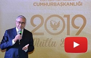"""Akıncı: """"2019, güzel haberlerin yılı olsun"""""""