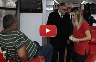Akıncı'dan kan bağışı kampanyasına destek