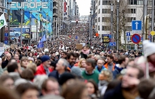 Belçika'da çevre için protesto