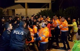 CAS çalışanlarından Ercan'da eylem