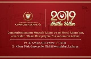 Cumhurbaşkanı Mustafa Akıncı basın resepsiyonu...