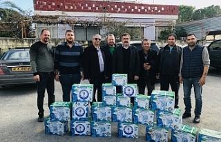 Dikmen Belediyesi'ne malzeme yardımı