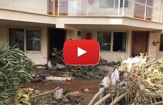 Fotoğraflarla bugün Girne'de yaşanan felaket