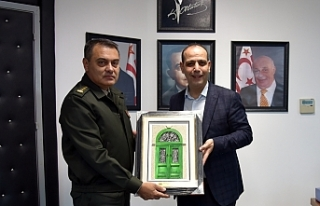 Harmancı 14. Zırhlı Tugay Komutanını kabul etti