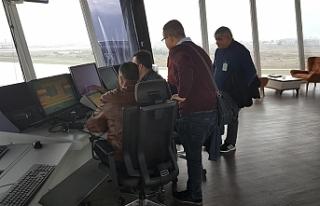 Sivil Havacılık Dairesi hava trafik personeli, Antalya'da...