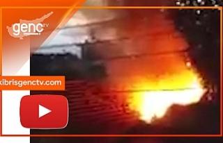 Yeşilyurt'da yangın...1 yaralı
