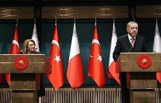 Cumhurbaşkanı Erdoğan ile Preca ortak açıklama...