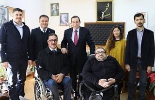 Engelli Hizmetleri Koordinasyon Kurulu heyetini kabul...