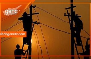 Gazimağusa bölgesinde bazı yerlere elektrik verilemeyecek